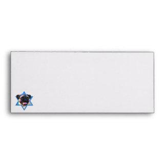 Hanukkah Star of David - Pug Envelope