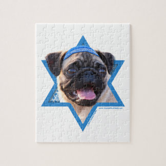 Hanukkah Star of David - Pug Jigsaw Puzzle