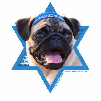 Hanukkah Star of David - Pug Standing Photo Sculpture