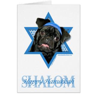 Hanukkah Star of David - Pug - Ruffy Card