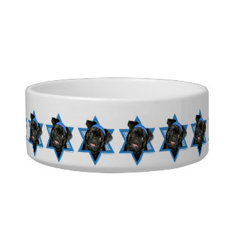 Hanukkah Star of David - Pug - Ruffy Cat Water Bowls