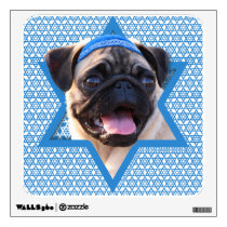 Hanukkah Star of David - Pug Wall Sticker