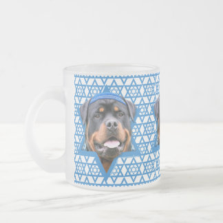 Hanukkah Star of David - Rottweiler Frosted Glass Coffee Mug