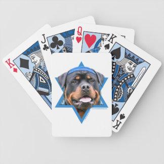 Hanukkah Star of David - Rottweiler Card Decks