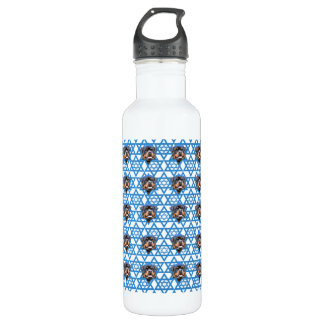 Hanukkah Star of David - Rottweiler Stainless Steel Water Bottle