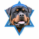"Hanukkah Star of David - Rottweiler Statuette<br><div class=""desc"">What could make saying Happy Hanukkah more fun than having this Rottweiler Dog wearing a Yamaka surrounded by the Star of David. This whimsical holiday design will be sure to delight your friends and family as well as other animal lovers. This design is available in over 100 Dog Breeds. If...</div>"