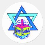 Hanukkah Star of David Round Sticker