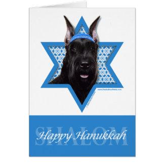 Hanukkah Star of David - Schnauzer Stationery Note Card