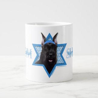 Hanukkah Star of David - Schnauzer Large Coffee Mug
