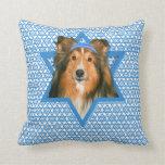 Hanukkah Star of David - Sheltie Pillow
