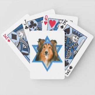 Hanukkah Star of David - Sheltie Bicycle Poker Deck