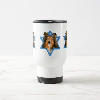 Hanukkah Star of David - Sheltie Travel Mug