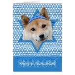 Hanukkah Star of David - Shiba Inu Cards