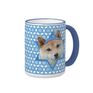 Hanukkah Star of David - Shiba Inu Ringer Coffee Mug
