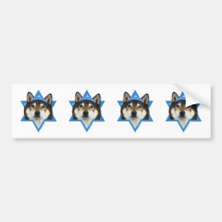 Hanukkah Star of David - Shiba Inu - Yasha Bumper Sticker