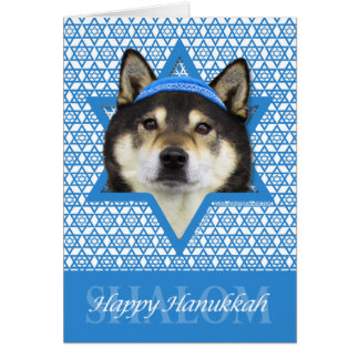 Hanukkah Star of David - Shiba Inu - Yasha Card