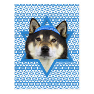 Hanukkah Star of David - Shiba Inu - Yasha Postcard
