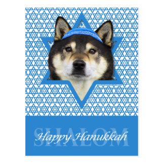 Hanukkah Star of David - Shiba Inu - Yasha Postcard