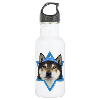 Hanukkah Star of David - Shiba Inu - Yasha Stainless Steel Water Bottle