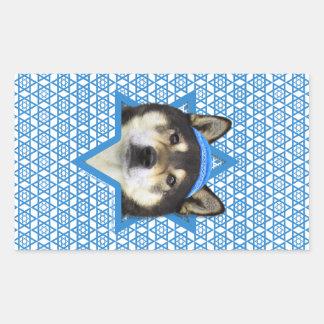 Hanukkah Star of David - Shiba Inu - Yasha Rectangular Sticker