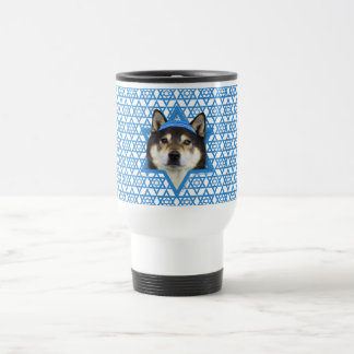 Hanukkah Star of David - Shiba Inu - Yasha Travel Mug