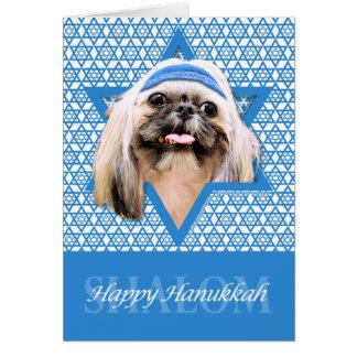 Hanukkah Star of David - Shih Tzu - Opal Stationery Note Card
