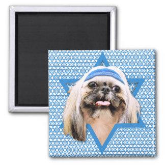 Hanukkah Star of David - Shih Tzu - Opal Magnets