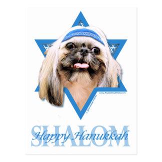 Hanukkah Star of David - Shih Tzu - Opal Postcard