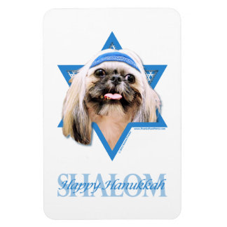 Hanukkah Star of David - Shih Tzu - Opal Vinyl Magnet