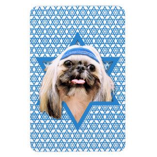 Hanukkah Star of David - Shih Tzu - Opal Flexible Magnet