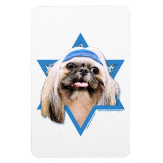 Hanukkah Star of David - Shih Tzu - Opal Rectangular Magnets