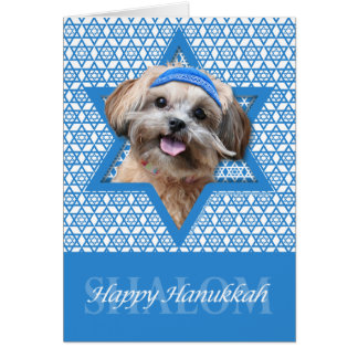 Hanukkah Star of David - ShihPoo - Maggie Stationery Note Card