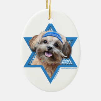 Hanukkah Star of David - ShihPoo - Maggie Ceramic Ornament