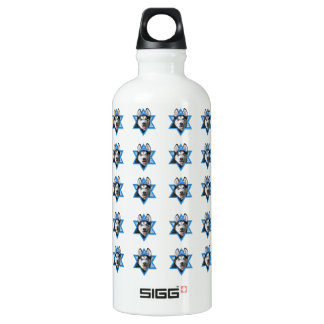 Hanukkah Star of David - Siberian Husky Aluminum Water Bottle