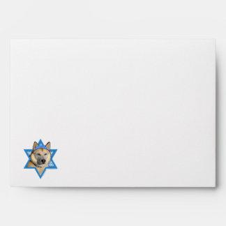 Hanukkah Star of David - Siberian Husky - Copper Envelope