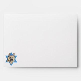 Hanukkah Star of David - Siberian Husky - Copper Envelopes