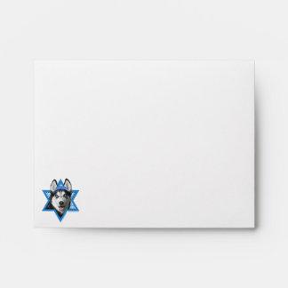 Hanukkah Star of David - Siberian Husky Envelope