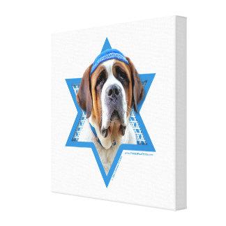 Hanukkah Star of David - St Bernard Gallery Wrapped Canvas
