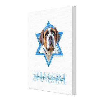 Hanukkah Star of David - St Bernard Gallery Wrap Canvas