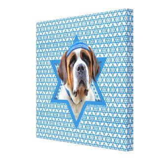 Hanukkah Star of David - St Bernard Canvas Print