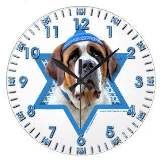 Hanukkah Star of David - St Bernard Large Clock