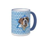 Hanukkah Star of David - St Bernard Ringer Coffee Mug