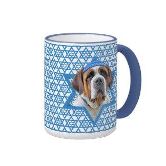 Hanukkah Star of David - St Bernard Ringer Mug