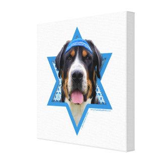 Hanukkah Star of David - Swiss Mountain Dog Gallery Wrapped Canvas