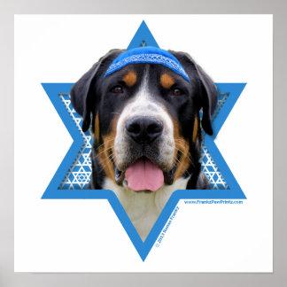 Hanukkah Star of David - Swiss Mountain Dog Posters