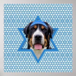 Hanukkah Star of David - Swiss Mountain Dog Print