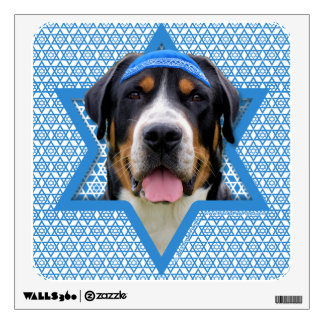 Hanukkah Star of David - Swiss Mountain Dog Wall Decal