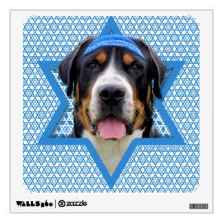 Hanukkah Star of David - Swiss Mountain Dog Room Graphic