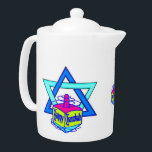 "Hanukkah Star of David Teapot<br><div class=""desc""></div>"