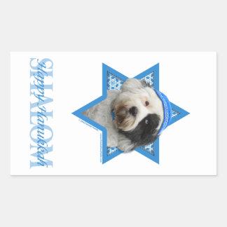 Hanukkah Star of David - Tibetan Terrier Rectangular Sticker